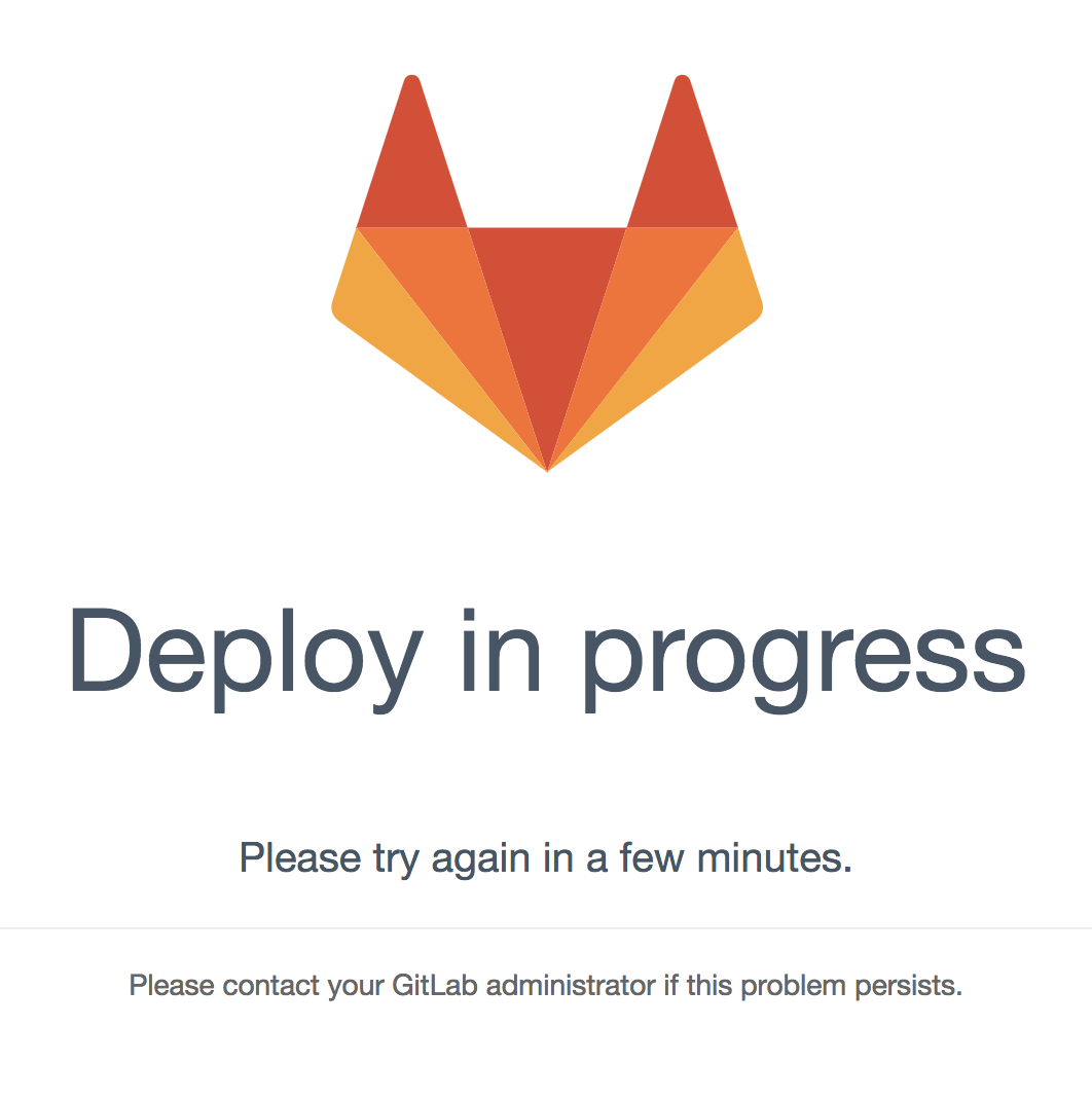 deploy in progress